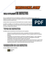 Rectificado de Defectos