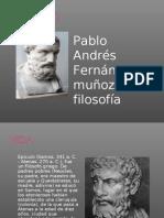 Pablo Andrés Fernández Muñoz Filosofía