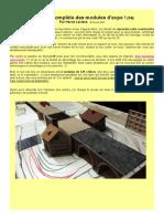 MODÉLISME FERROVIAIRE  à l'échelle HO. (14) Construction de modules d'exposition. Révision complète des modules d'expo. Par Hervé Leclère. © Février 2015