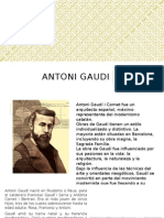 Antoni Gaudi, presentation in spanish