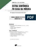 20141128 | Programa de Sala Orquestra Sinfónica do Porto Casa da Música | JUROWSKI EM CASA