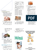 Leaflet nutrisi  pada anak