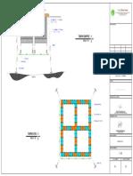 Contoh Gambar KJA (3x3)m - 4 Lubang Jarak 0,5 m