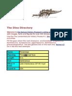 Dino Webquest 5e