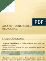 Aula 09 – Cont. Modelo Referêncial