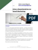 Formulários e Questionários no Email Marketing