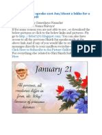 Shri Shirdi Sai Speaks for 20th and 21st Jan