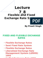 Lecture 7_8-Flexible and Fixed Exchange Rate System