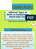 Different Types of NGOs as Explained by Relief India Trust