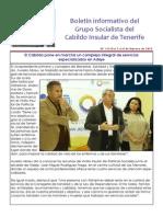 Boletín del Grupo Socialista del Cabildo de Tenerife 112. 2 - 8 de febrero 2015