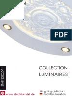 Gips Leuchten Kollektion von Staff Décor Hamburg