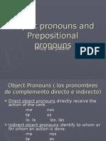 object pronouns and prepositional pronouns