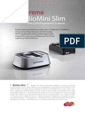 BioMini Slim   Fingerprint   Image Scanner