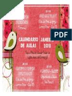 Calendário de Aulas - Jan.2013