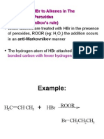 (4) Addition of HBr to Alkenes In