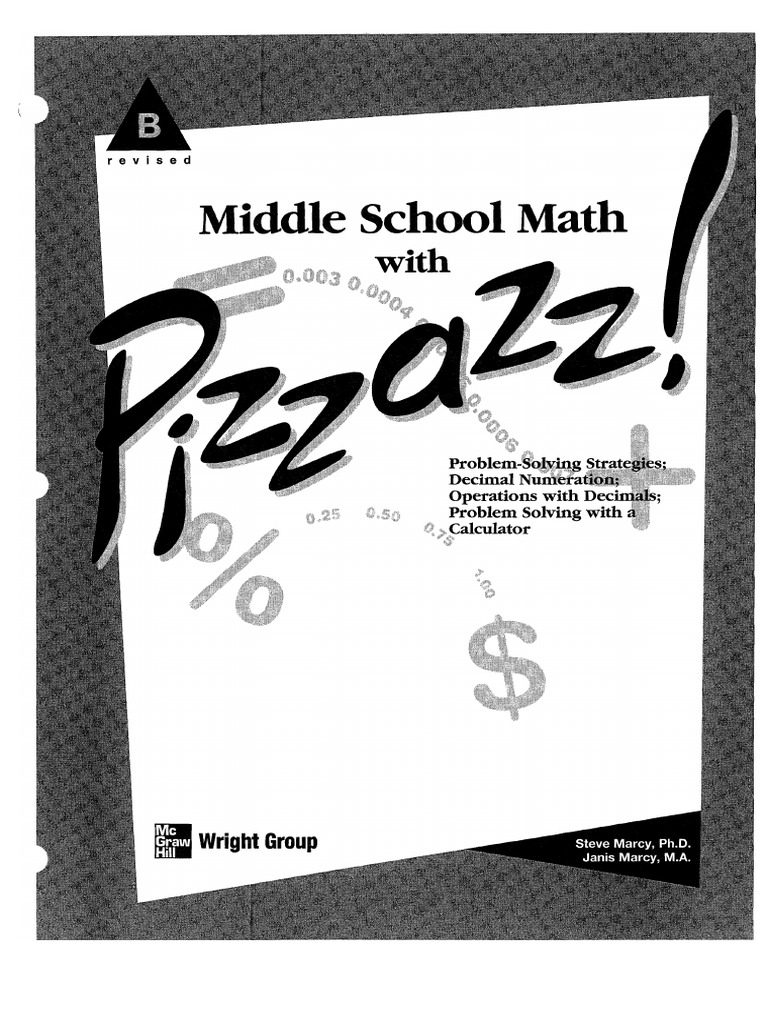 Middle School Math With Pizzazz Book B Calculator Multiplication