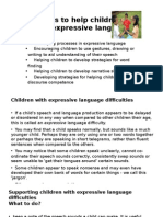 Lec 11 Develop Expressive Language