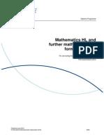 Math HL Formula Booklet 2014