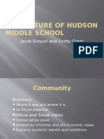 the culture of hudson middle scool