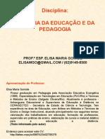 História Da Educação e Pedagogia