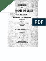 Compagnie de Jesus en France 1910