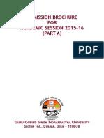 IPU CET 2015 Brochure