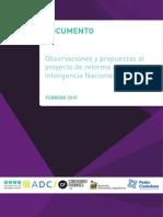 OBSERVACIONES Y PROPUESTAS AL PROYECTO DE REFORMA DE LA LEY DE INTELIGENCIA NACIONAL