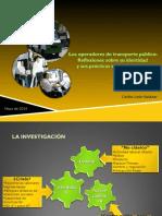 Identidad y prácticas sociales de operadores de transporte público en la ciudad de México.
