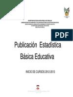 Publicacion Estadistica Basica Educatica Inicio de Cursos 2012-2013
