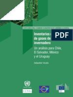 Inventarios de emisiones de gases de efecto invernadero Un análisis para Chile, El Salvador, México y el Uruguay