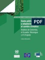 Gasto público y adaptación al cambio climático Análisis de Colombia, el Ecuador, Nicaragua y el Uruguay