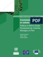Crecimiento bajo en carbono Políticas en Bolivia (Estado Plurinacional de), Colombia, Nicaragua y el Perú