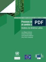 Procesos de adaptación al cambio climático Análisis de América Latina