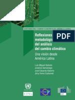 Reflexiones metodológicas del análisis del cambio climático Una visión desde América Latina