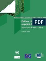 Políticas climáticas en países desarrollados Impacto en América Latina