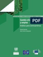 Cambio climático y empleo Análisis para Centroamérica