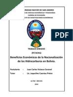 Beneficios Económicos de La Nacionalización
