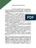 Grado Arquitectura y Tipologías