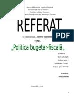 Politica Bugetar Fiscala
