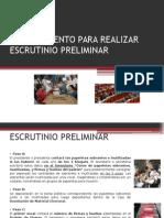 Procedimiento Para Realizar Escrutinio Preliminar 2