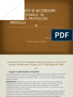 Convenţii Şi Acorduri Internaţionale in Domeniul Protecţiei Mediului