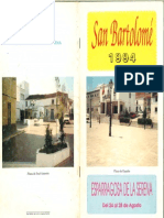 Programa Fiestas San Bartolomé 1994