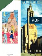 Programa Fiestas San Bartolomé 1995