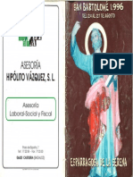 Programa Fiestas San Bartolomé 1996