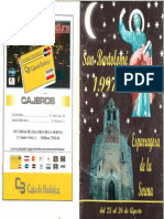 Programa Fiestas San Bartolomé 1997