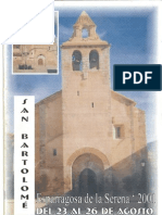Programa Fiestas San Bartolomé 2001