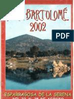 Programa Fiestas San Bartolomé 2002