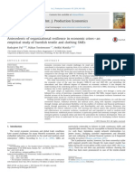 Moita Antecedents of Organizational Resilience in Economic Crises an Empirical Study of Swedish Textile and Clothing SMEs