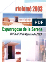 Programa Fiestas San Bartolomé 2003