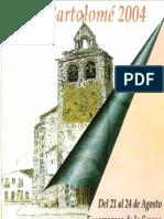 Programa Fiestas San Bartolomé 2004